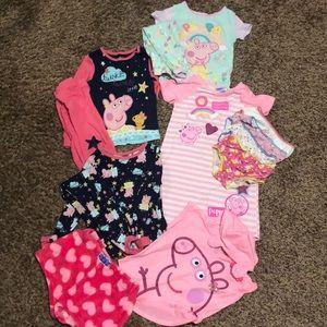 Peppa Pig pajamas and underwear